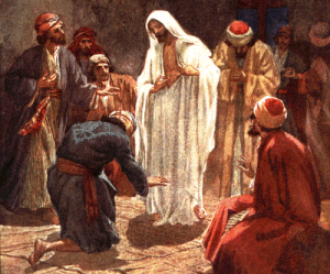 Jesus shows his wounds to Thomas - by William Hol