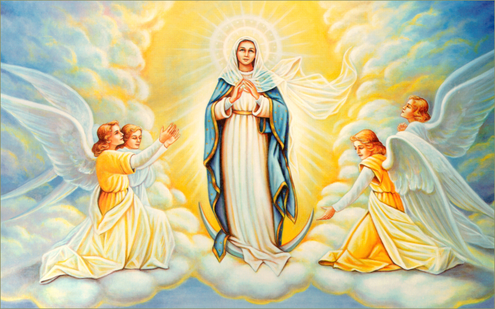 The Queenship Of The Blessed Virgin Mary. Catholic